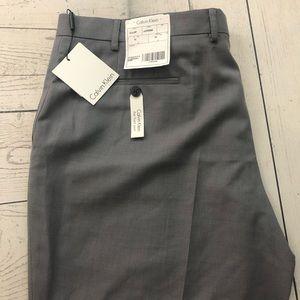 Calvin Klein Men's W40 x L30 Gray Dress Pants
